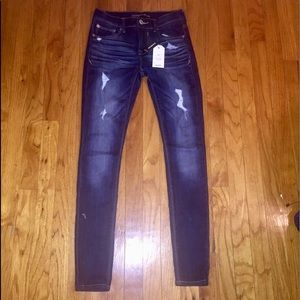 Express Jean Legging Mid Rise Distressed 0 NWT